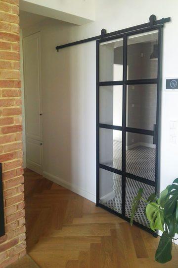 Steel and glass door VERRIERE model