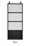 Metal sliding doors with glass ATELIER 3 model