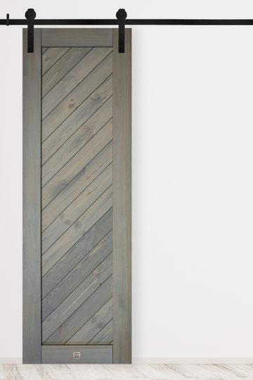 Sliding door gray SKOLE model