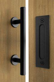 Sliding door pull handle set, PI+FLAT