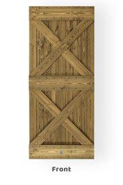 Rustical wooden sliding door model DUET