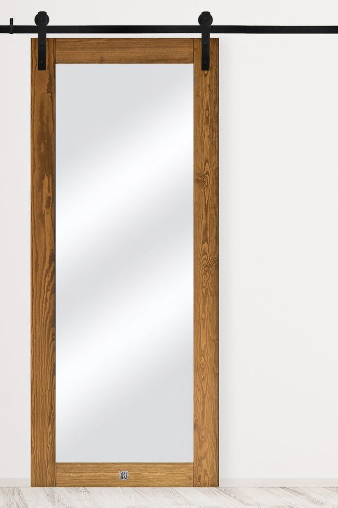 Wooden door with mirror, MIRRA model