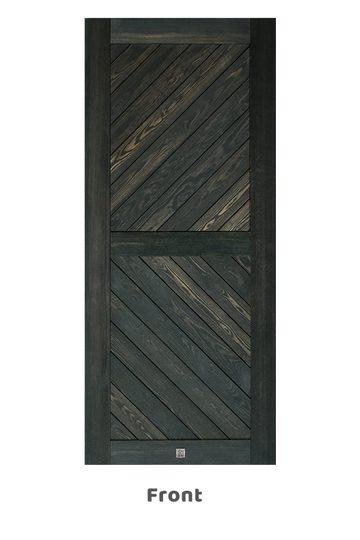 Wooden sliding doors, CARO black oak